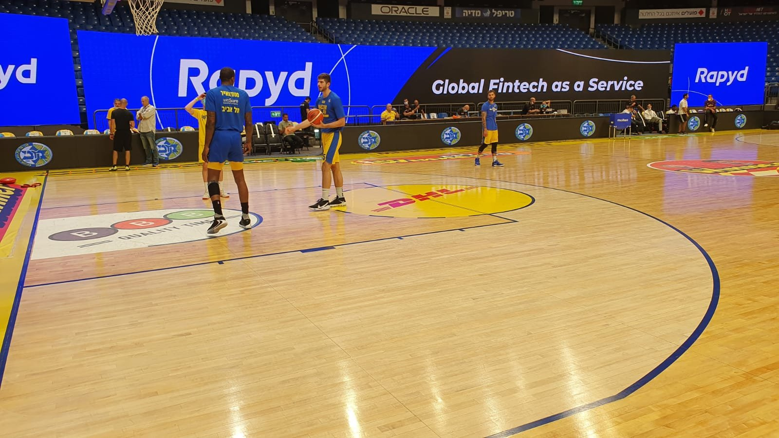 Rapyd featured on large screen at Maccabi FOX Tel Aviv game