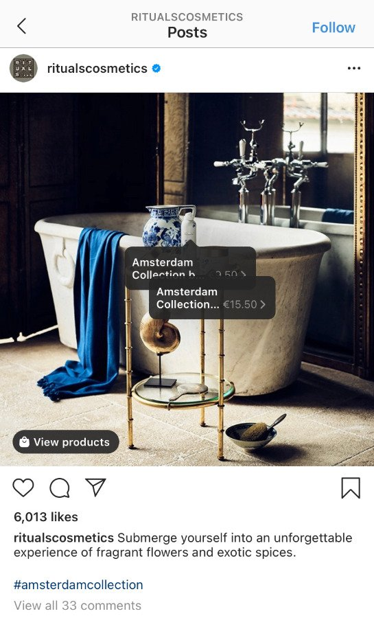 Rituals Shoppable Posts on Instagram