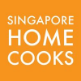 Singapore Home Cooks Logo, a large orange square with text.